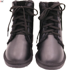 CF-239 Free Samples Waterproof Manufacturers Denim Fabric Women Winter Boots Shoes,Faux Fur Snow Women Boots Shoes