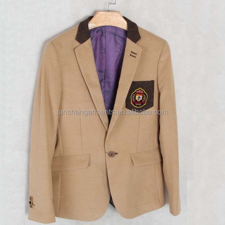 khaki japanese school uniform suit boy blazer