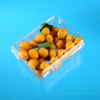 2016 popular vegetable and fruit PET plastic blister packaging box