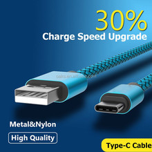 High quality Nylon braided USB 2.0 Male to USB 3.1 type C Cable