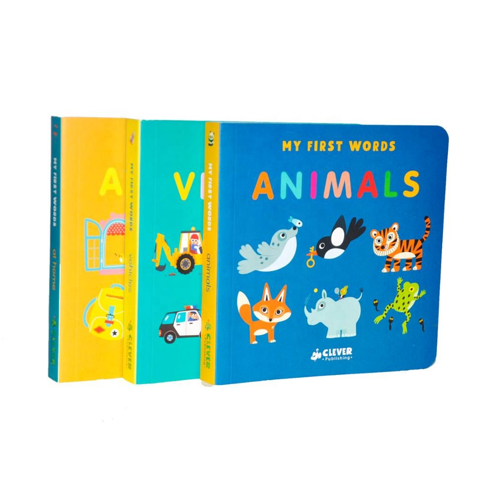 custom print,die-cut children book,color printing children board book