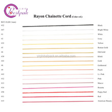 Colourful Rayon Chainette Cord