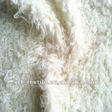 XCL 2014 New fashion fold flocking faux long hair artificial fur fabric