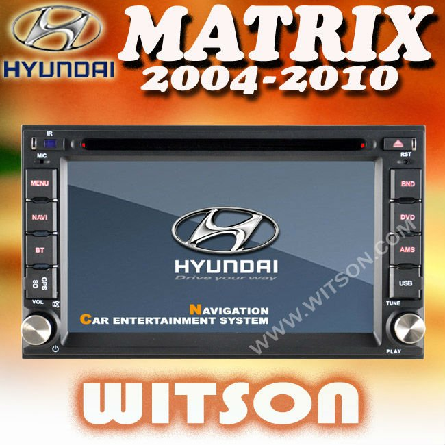 WITSON HYUNDAI MATRIX 2004-2010 DOUBLE DIN CAR STEREO with USB port and iPod ready