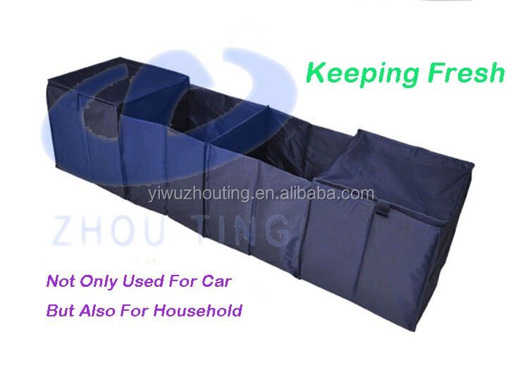 Hot sale folding car trunk organizer with 4 compartments