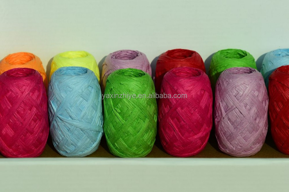 Plastic Raffia String with shrink wrap