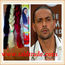 African Beauty Factory Price Synthetic Hair White Braiding Hair Extension