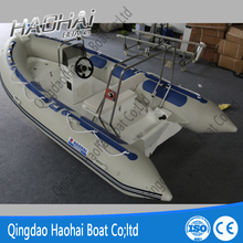 CE 13.8ft 430 RIB Fiberglass Used Rigid Inflatable Boats For Sale