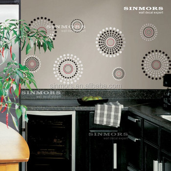 European style flower circles quote removable room decor for Room decor embellishment art 3d