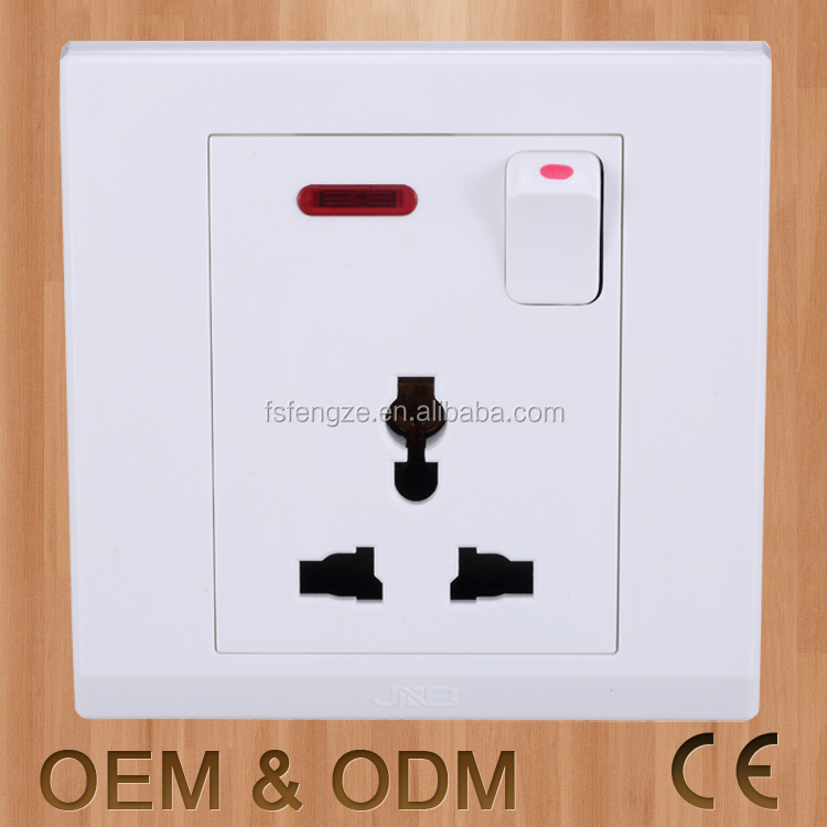 Fireproof electricalwall switch and socket , 13a 250v wall socket switch, swtich with wall outlet