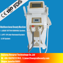 Stationary 4 in 1 rf opt laser ipl beauty machine for hair removal / skin rejuvenation /freckle/tattoo removal