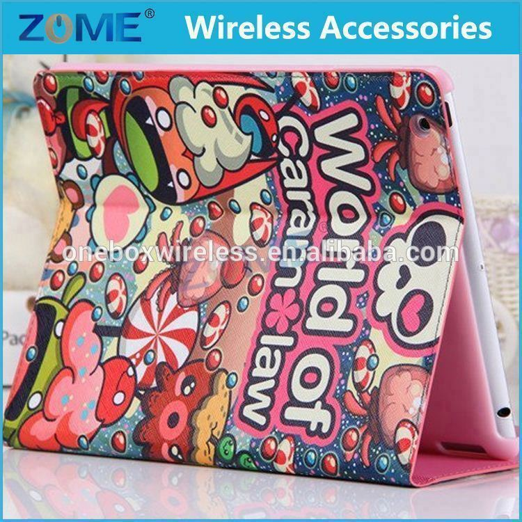 Hot Sale New Colorful For ipad Fancy Diary Best High Quality printing Book Flip Leather Case