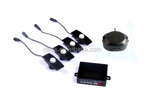 18-22MM Car Parking Assistance LED Display Buzzer Backup Radar Detector System Reverse Sound Alert 4 Flat Parking Sensors