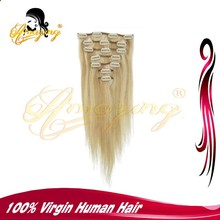 AMAZING Top Quality Double dawn 100% thick Remy Hair Extention Clip In Hair Extensions For White Women