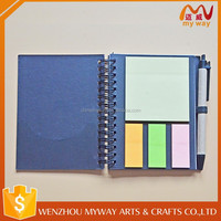 Portable size cheap writing small office sticky memo pads with pen
