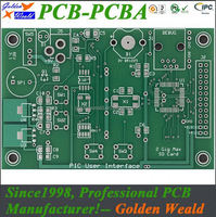 One station immersion gold pcb manufacturer 2-layer bga pcb bga pcb assembly