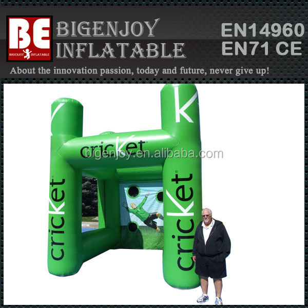 Commercial Cricket Inflatable Sports Booth