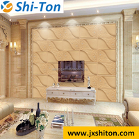 embossed faux leather wall paper for interior decoration
