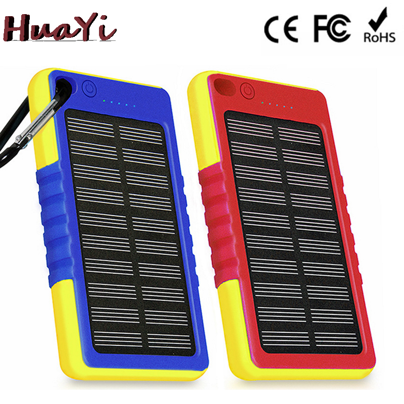 4000mAh Solar Power Banks For Portable Mobile Phone With Dual Output