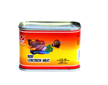 Healthy canned beef luncheon meat, beef in tins