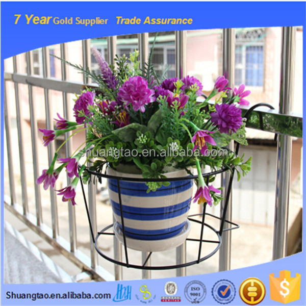 Durable type iron flower pot stand, hanging flower pot, metal wire flower pot