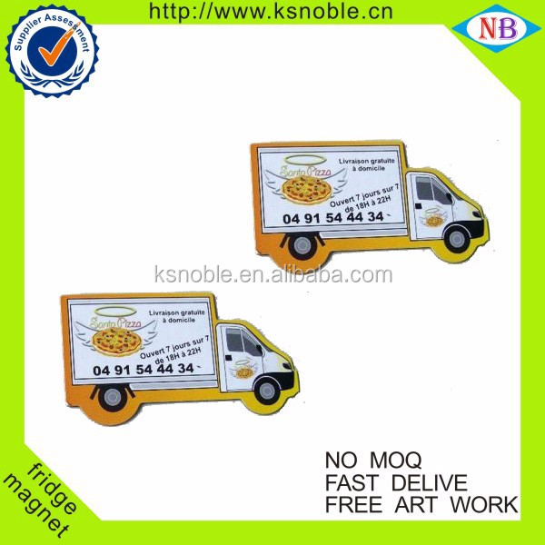 Wholesale custom paper car fridge magnets