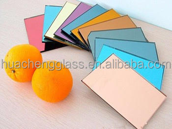 Colored Glass Mirror Factory/3mm-12mm Float Colored Mirror glass/Tinted color mirror glass for building decoration
