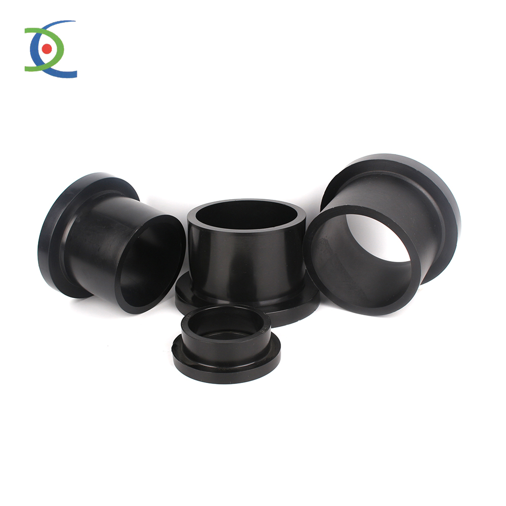black butt fusion 315mm polyethylene hdpe pipe flange fitting stub end