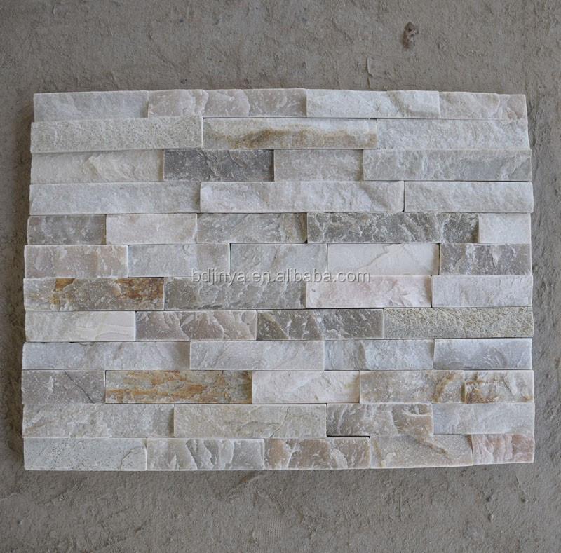 decorativos de piedra de pizarra natural para la pared exterior casa