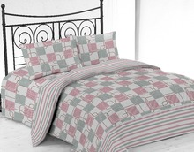 Ready made Microfiber Printed Bed Sheet Set Customized Design