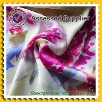 Woven printed 100% polyester brocade fabric