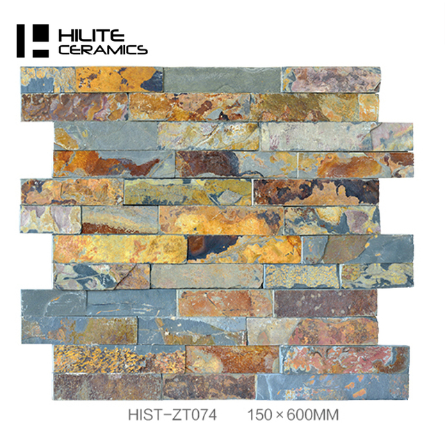 Rusty Mica Schist Stone Wall Veneer Cladding Panel