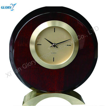 Round carved wood wall clock decor