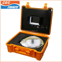 "12-4/5"" wheel diameter 20/30/40M cable Waterproof IP68 Forbest Sewer Drain Pipe Inspection Camera System"