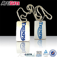 Wholesale metal different kinds of scrolling dog tag