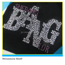 Bling Bling Letter BANG Rhinestone Motif Heat Transfer For T-Shirt