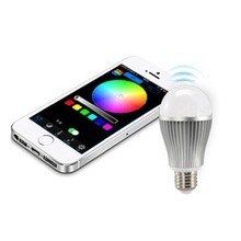 2.4G E27 WiFi 6W Dimmable RGB LED Bulb + RF Wireless Touch Screen Remote control 7w 9w led light bulb