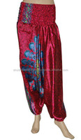 Beautiful Vintage Sari Silk Women's Harem / Indian Trouser in Aladdin Style