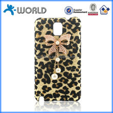 Leopard skin DIY fashion diamond pc case OEM for samsung note 3
