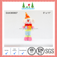 Christmas standing ornament of clown decoration
