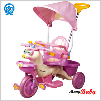 plastic child tricycle with canopy