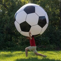 plastic inflatable giant soccer ball