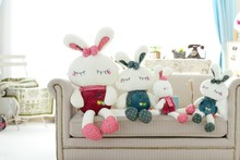 2-colors mixed fruit styles stuffed toy rabbit wholesale
