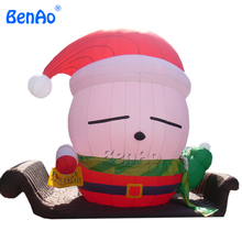 X088 Christmas inflatable santa on sleigh Inflatable Colossal Santa Yard Holiday Decoration,inflatable costume,inflatable santa