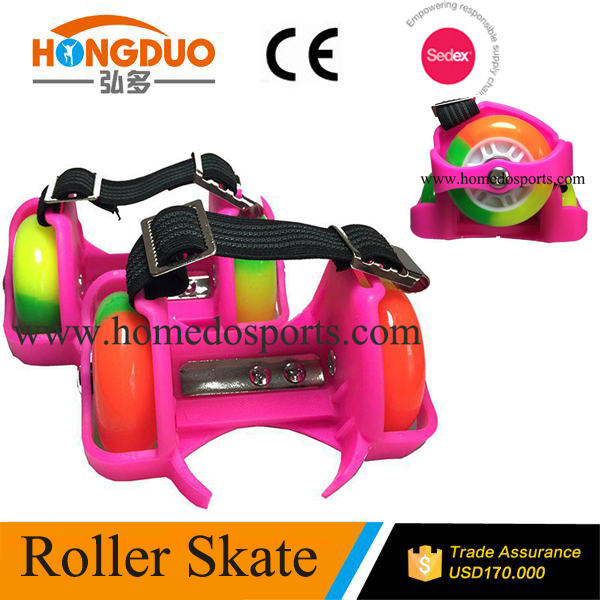 PU flashing wheel and colorful inline skates