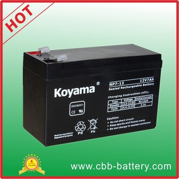 KOYAMA 7ah 12V alarm system lead acid agm battery backup battery
