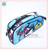 2017 polyester fashion travel cosmetic pouch , lady polyester zipper cosmetic pouch