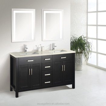 Solid Wood Bathroom Vanity with Double Sink