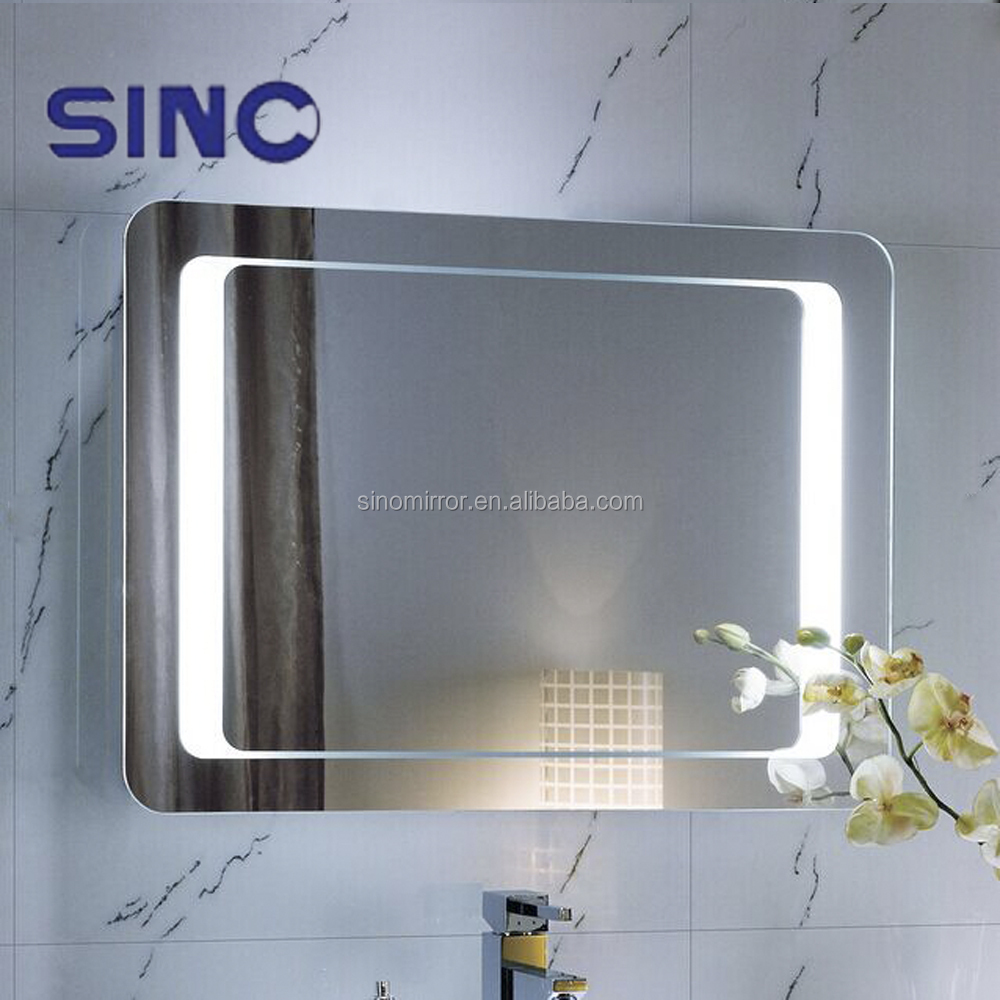 Illuminated feature and bath mirrors type lighted mirror for Types of bathroom mirrors