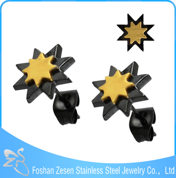 fashion earring designs new model earrings, dold and black ear studs